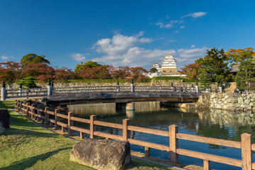 Himeji castle historic landmark , japan. Unesco world heritage site.