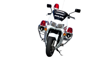 Motorcycle for traffic police