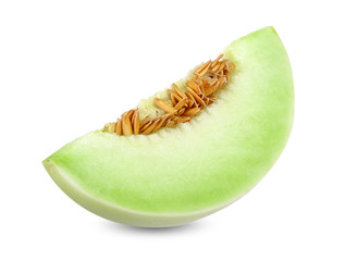 Honeydew melon isolated on white clipping path