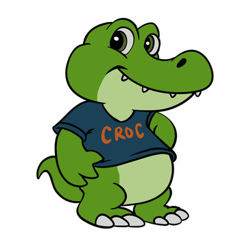 Baby Crocodile cartoon Vector illustration