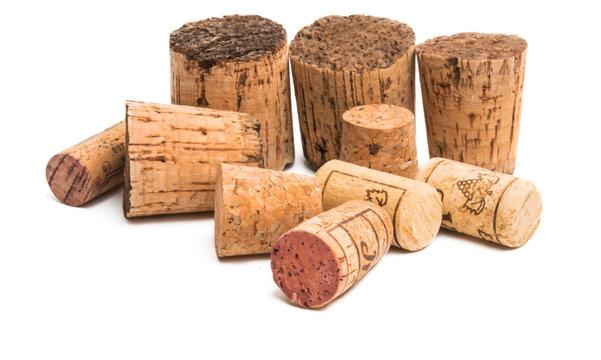 wine cork isolated