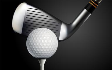 Fototapete - Golf Realistic Background