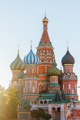 St. Basil's Cathedral on Red Square near Moscow Kremlin