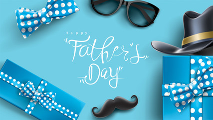 Happy Father's Day design with fun concept and pastel color