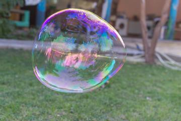 big soap bubbles