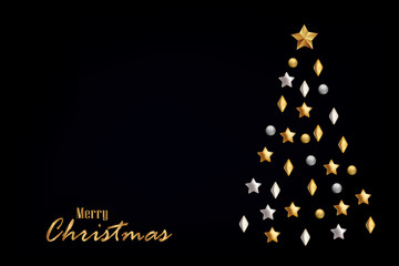 Merry Christmas greeting card template, Christmas background