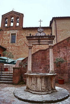 Courtyard of the shrine of St  Catherine, Siena Italy
