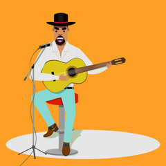 country singer illustration