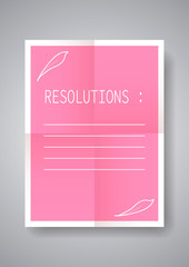 2019 resolution with decoration