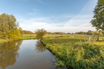 Dutch river Mark in the autumn season