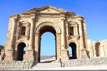 Triumphal Arch of Hadrian in Jerash, Jordan