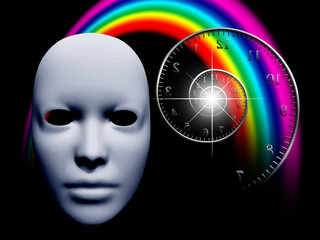 White mask and time spiral