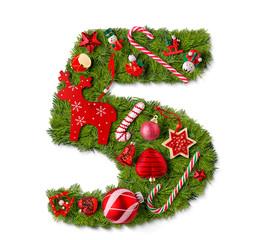 Number 5. Christmas tree decoration