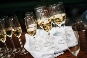Champagne glasses for a special occasion