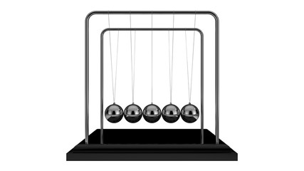 Pendule de Newton - Newtons Cradle With Metal Balance Ball