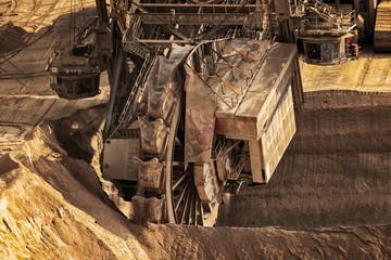 Bucket Wheel excavator mining