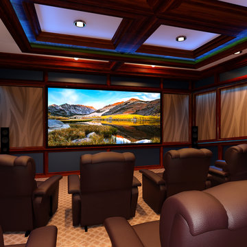 3D Rendering Home Theater