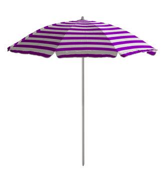 Beach umbrella - Violet-white striped