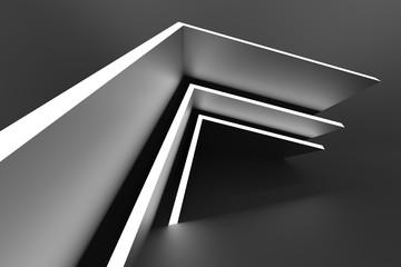 Fotobehang - Abstract Interior Design. Black Modern Background