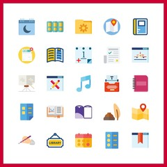page icon. write and musical note vector icons in page set. Use this illustration for page works.