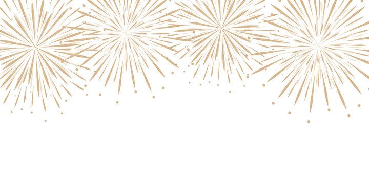 fireworks isolated on white background