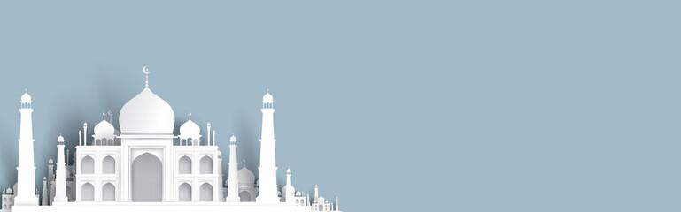 blank mosque text background, modern elegant islamic design Wall mural