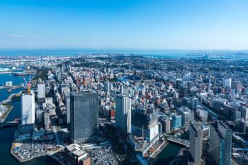(神奈川県ー都市風景)高層展望台から見る横浜の風景3