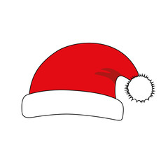 santa christmas hat isolated on white background