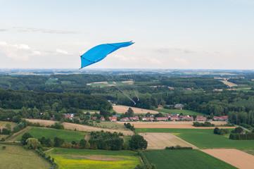 Aerial image of the Rokkaku kite