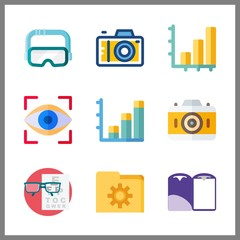 visual icons set. design, finance, file and industrial graphic works
