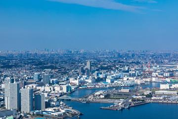 (神奈川県ー都市風景)高層展望台から見る横浜の風景4