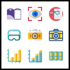 visual icons set. internet, clipping, editable and stationery graphic works