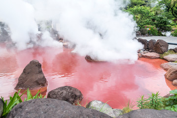 別府温泉 血の池地獄