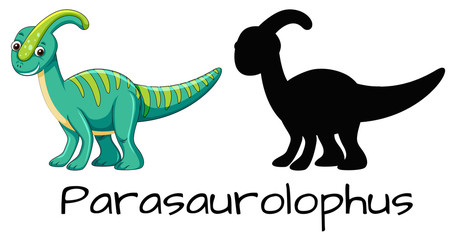 Set of parasaurolophus design