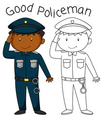 Doodle good policeman character