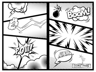 Double comic page. Vector illustration.