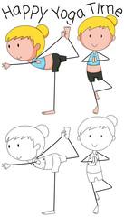 Girl doing yoga design