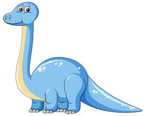 Cute blue dinosaur character