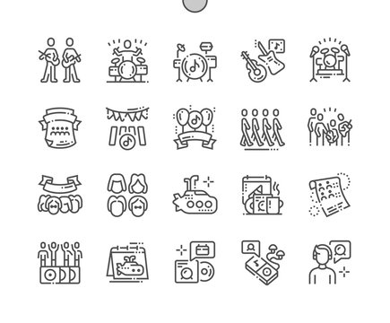World Beatles Day Well-crafted Pixel Perfect Vector Thin Line Icons 30 2x Grid for Web Graphics and Apps. Simple Minimal Pictogram