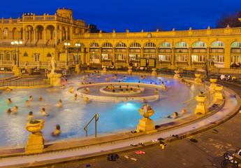 Canvas Prints Budapest Szechnyi thermal bath spa in Budapest Hungary