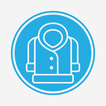 Coat vector icon sign symbol