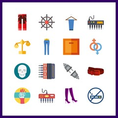 human icon. belt and x ray vector icons in human set. Use this illustration for human works.