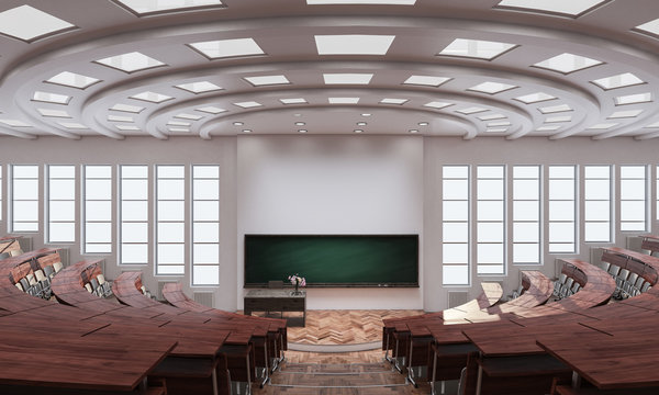 Inside an Auditorium 3d rendering