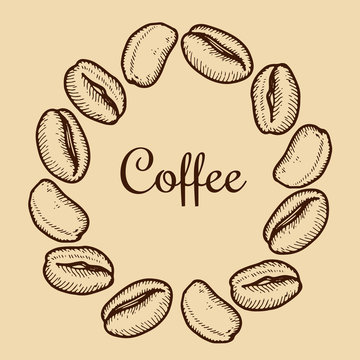 wreath with coffee bean