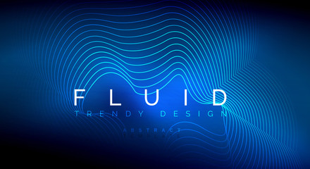 Digital flowing wave particles abstract background