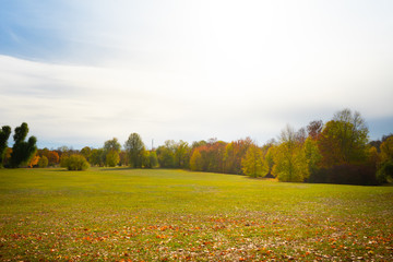 Schöne Landschaft im Herbst