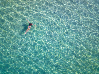 Indonesia, Bali, Melasti, Aerial view of Karma Kandara beach