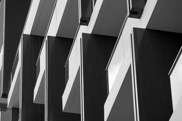 Abstract background architecture lines. modern architecture detail Wall mural