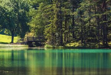 Wall Mural - Scenic Turquoise Lake