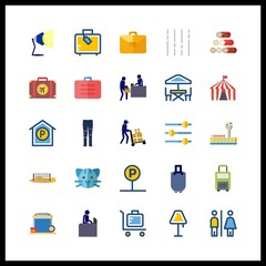 floor icons set. company, receptionist, old and glow graphic works